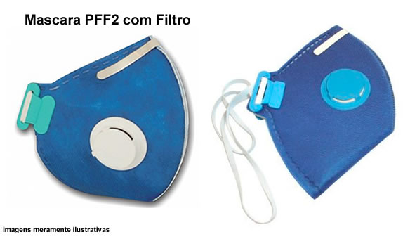 Máscara PFF2 com Filtro KSN CA 10578 e214afa8db